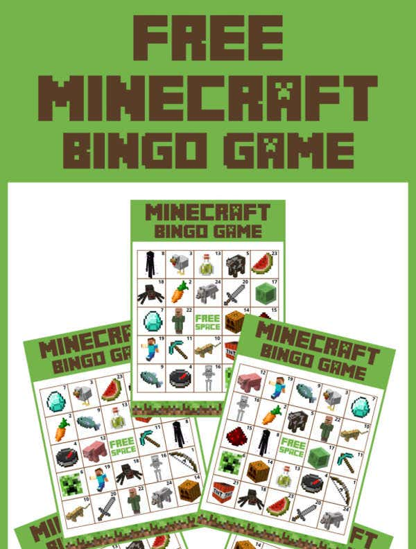 Free Minecraft bingo Printable
