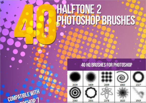 Halftone II Photoshop Brushes