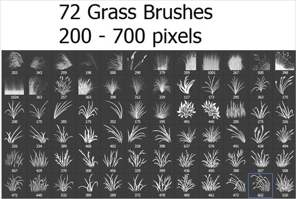 72 Photoshop Grass Brushes