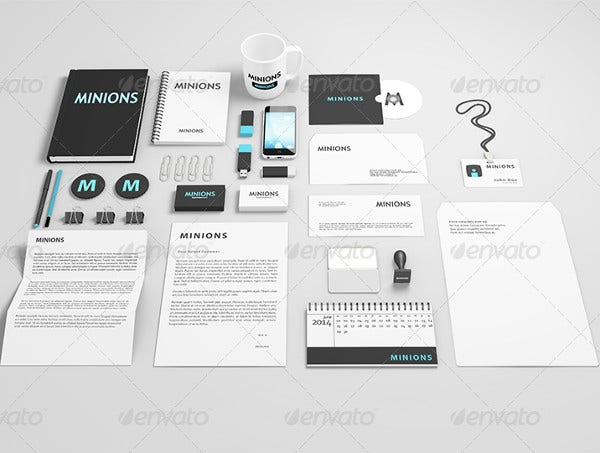 stationery design mockup