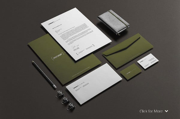 Photoshop Stationery Mockup