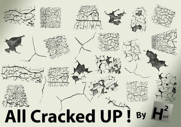 free cracked wall brushes