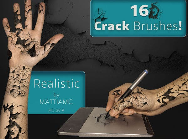 16 cracked skin brushes
