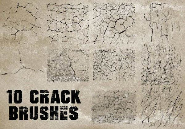 10 retro cracked brushes