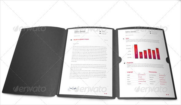 Photorealistic Presentation Resume Folder Mock Up  Resume Presentation Folder