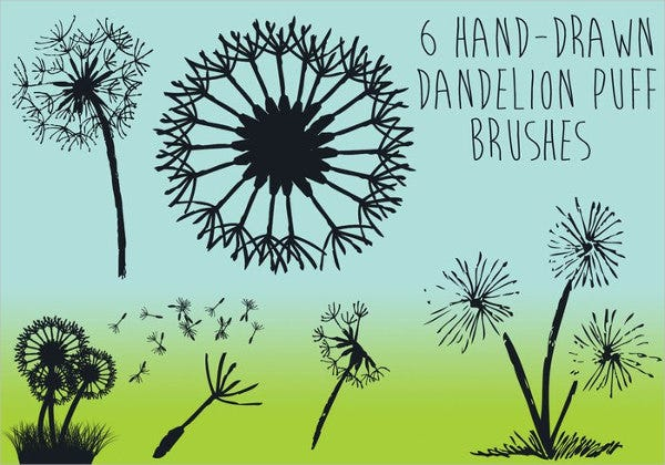 dandelion-puff-brushes