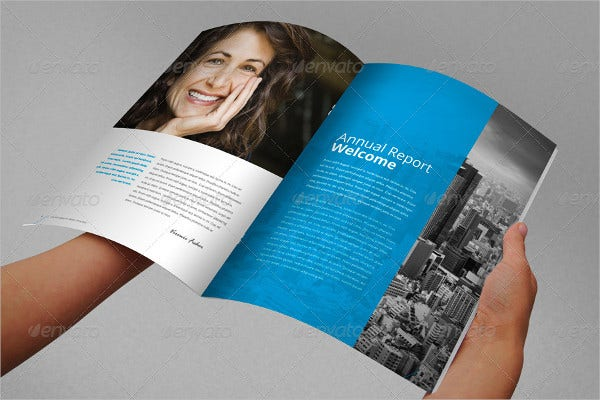 annual report brochure indesign