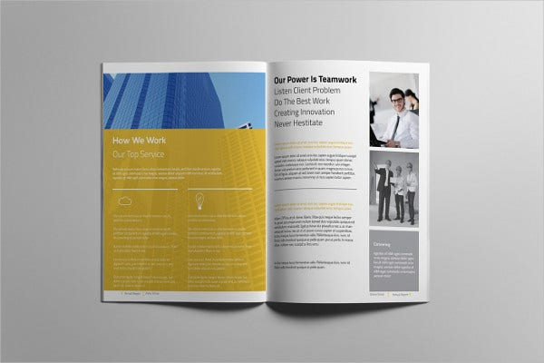 Annual Report Brochure  Printable Psd Ai Indesign Vector Eps