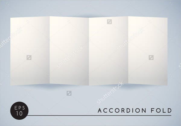 accordion fold brochure template