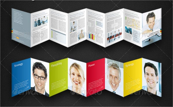 strategic 8 page accordion fold brochure