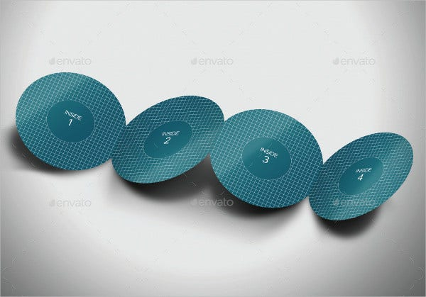 round accordion fold brochure
