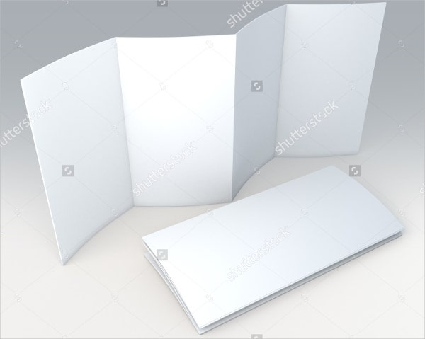 white blank 8 pages accordion fold brochure