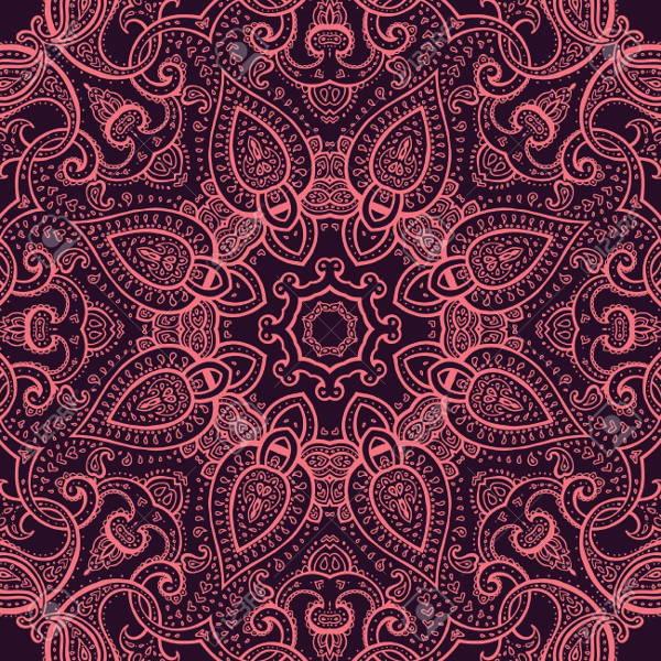 round lace mandala pattern