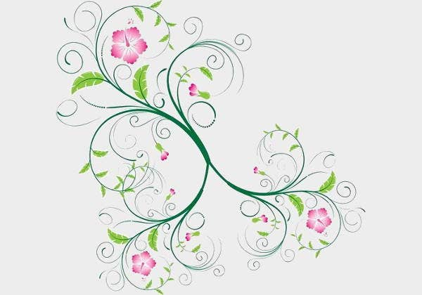 floral-swirl-vector