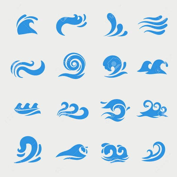 water swirl vector