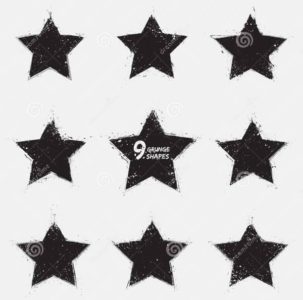 grunge-star-vector