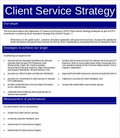 Related Images Of Service Strategy Template