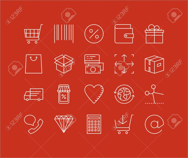 Retail Store Icons