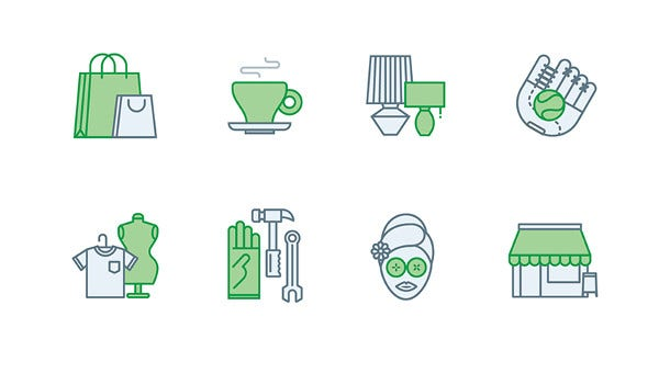 set of retail icons
