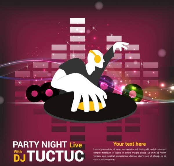 party-poster-vector