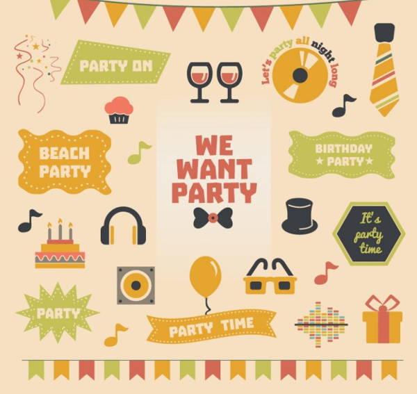 vintage-party-vector