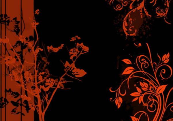 grunge-floral-brushes