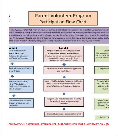 volunteer program flow chart template