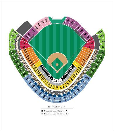volunteer stadium seating chart template
