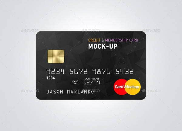 credit card design mockup