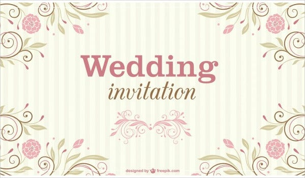 Floral Wedding Vector
