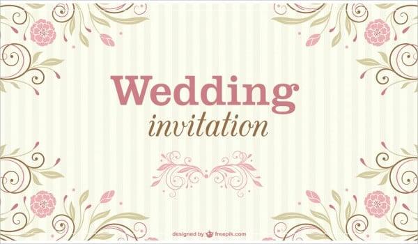 floral wedding vector