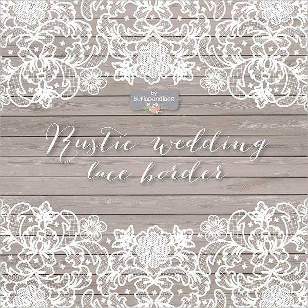 Lace Wedding Vector