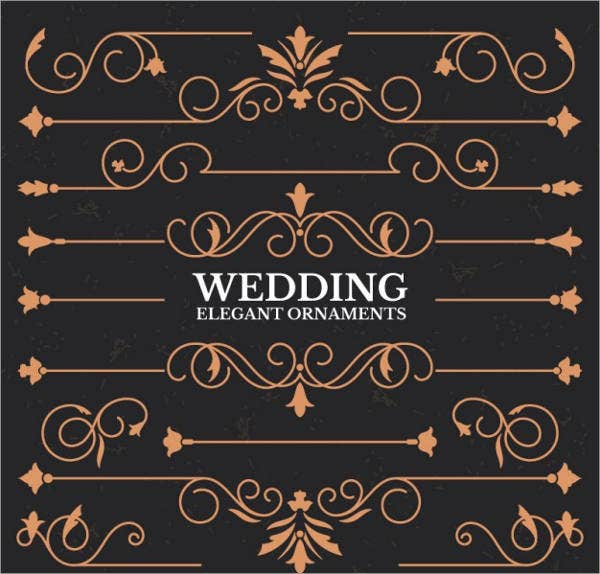 Wedding Border Vector