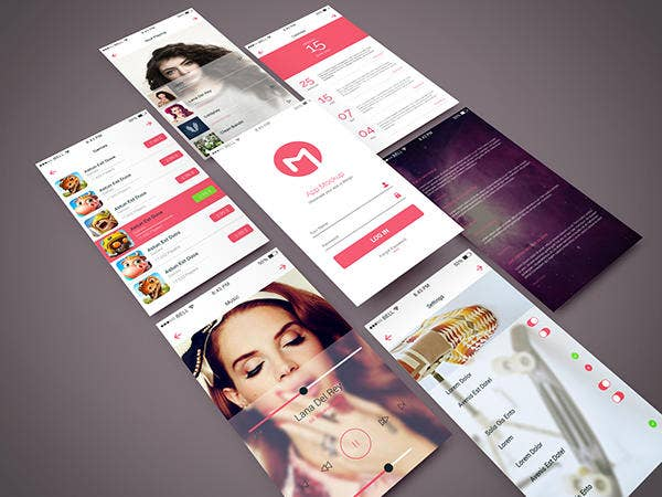 App Screen PSD Mockup