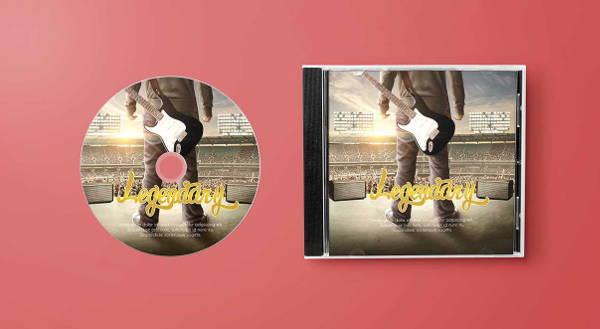 free psd cd mockup