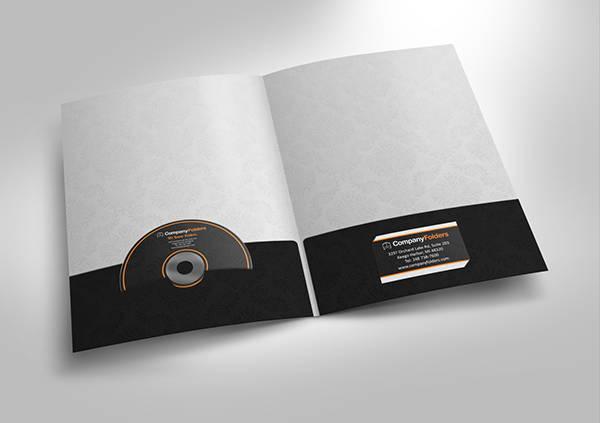 cd folder mockup