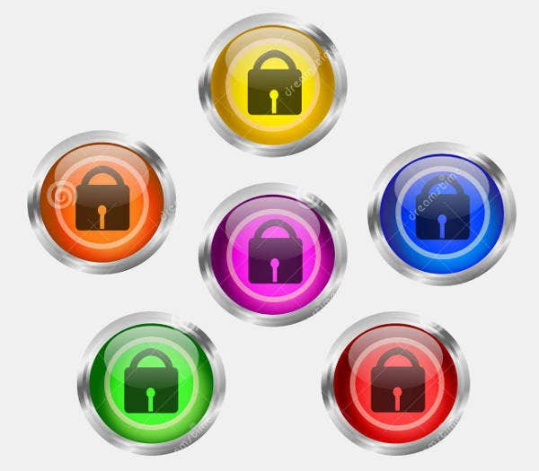 lock button icons