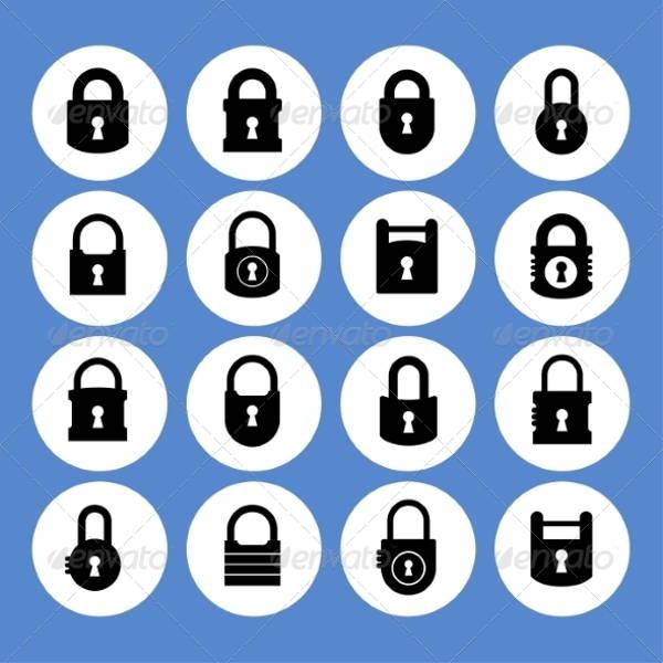 flat-lock-icons