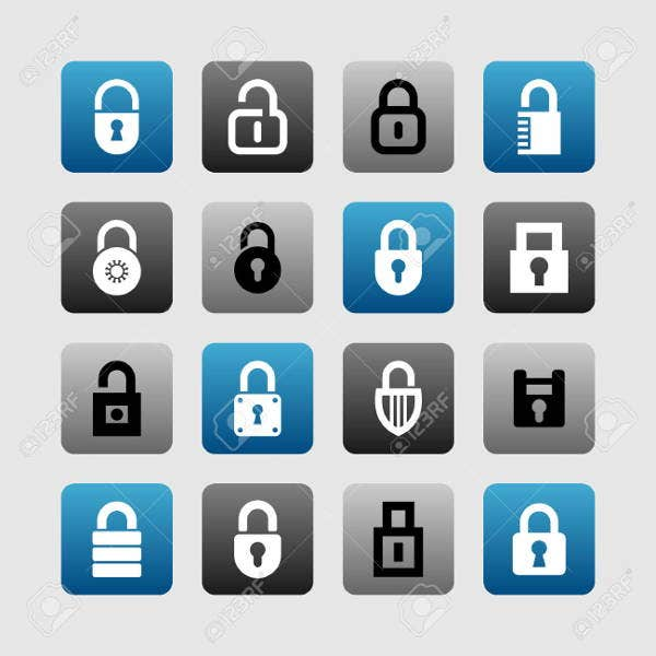 security lock icons