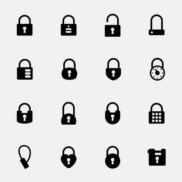 simple lock icons