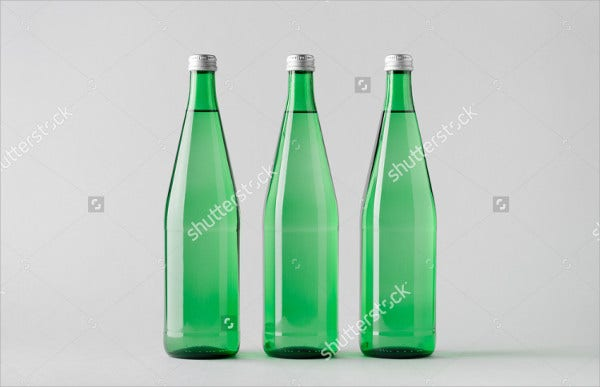 Soda Water Bottle Mockup