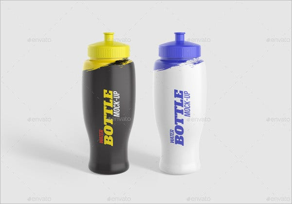Sports Water Bottle Mockup