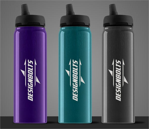Water Bottle Mockup PSD