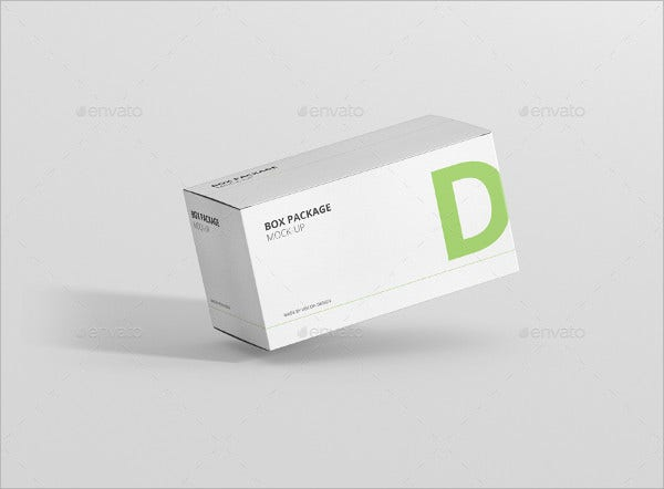 rectangle package box mockup