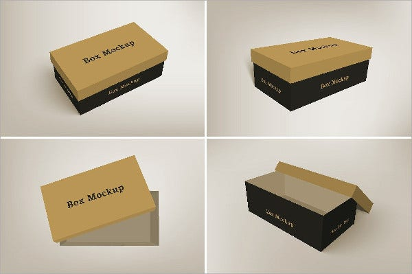 Shoe Package Box Mockup