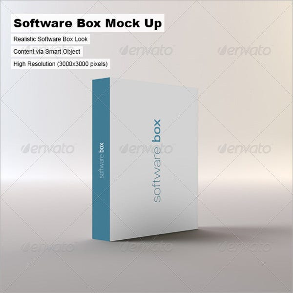 Software Package Box Mockup