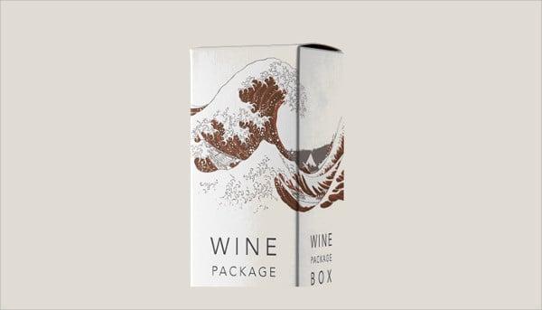 wine package box mockup