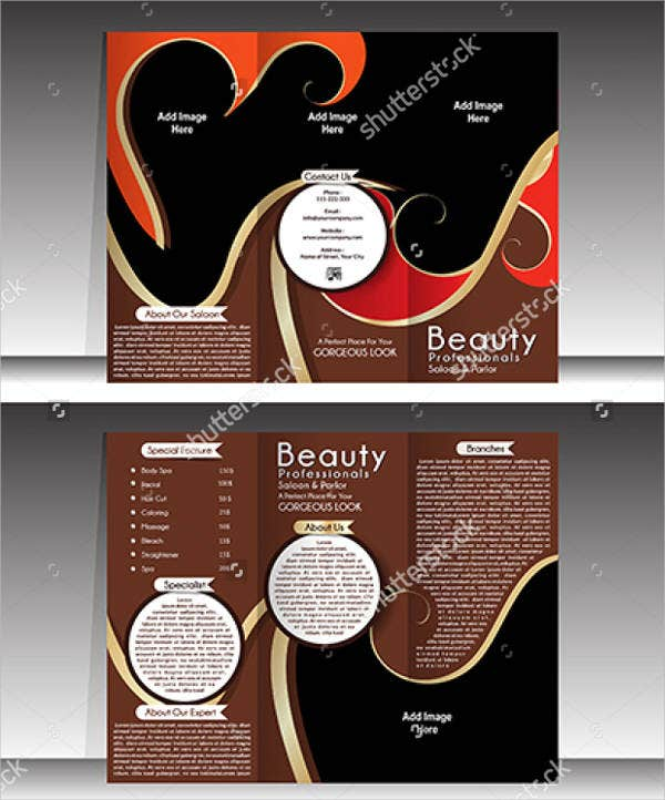 hair salon brochure