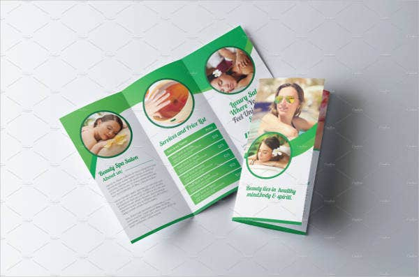 spa beauty salon brochure