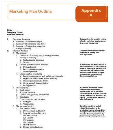 strategic marketing plan outline template